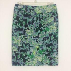 Halogen Womens 2P Side Zip Pencil Midi Skirt